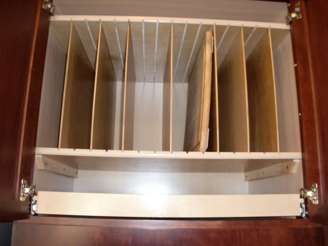 Above Fridge amp Oven Tray Dividers And Pull Out Shelf