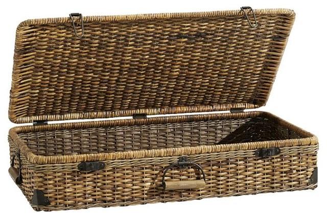 Hanging wicker bed - Daytrip Lidded Underbed Basket Contemporary Baskets