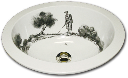 Hand Painted Sinks : Marzis Hand Painted Sinks - Traditional - Bathroom Sinks - other ...