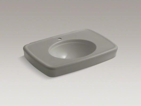 "KOHLER Bancroft(R) 30"" bathroom sink with single faucet hole contemporary-bathroom-sinks"