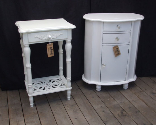 upcycled side tables -