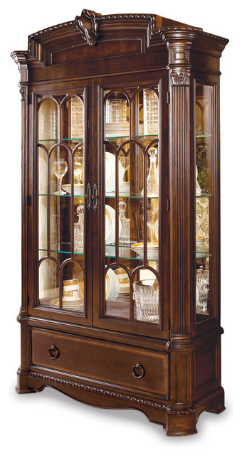 A.R.T. Capri Curio Cabinet - Traditional - Storage Cabinets - by Carolina Rustica