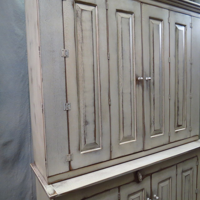 """White 55"""" Fairfield TV Cabinet - Eclectic - Storage Cabinets - houston ..."""
