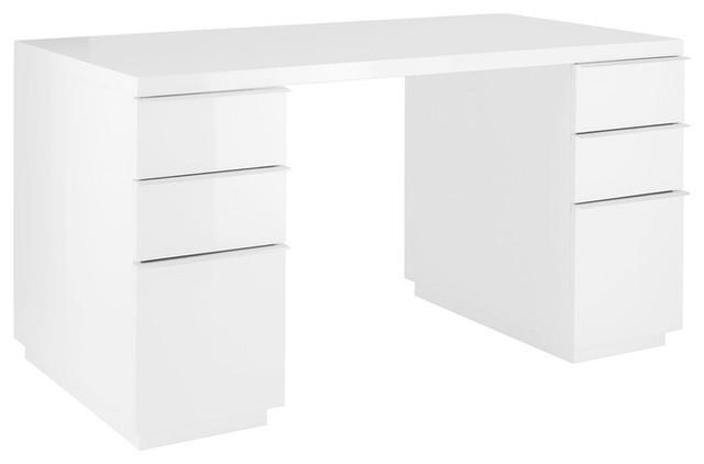 Madison Office Desk White Modern Desks And Hutches