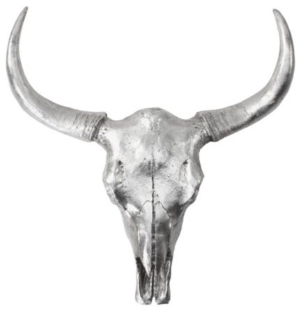 Silver Cow Skull rustic-home-decor