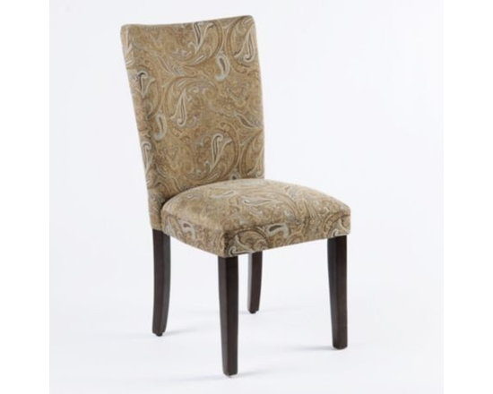 Paisley Parsons Chair - Paisley fabrics are so popular right now.  If you love paisley, you'll love this Paisley Parsons Chair.  Buy two and use them as host and hostess chairs in the dining room or use as an accent chair in a bedroom or living room.