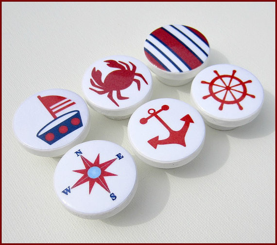 Nautical Kids Dresser Knob by Sweet Petites Boutique - Beach Style - Cabinet And Drawer Knobs ...