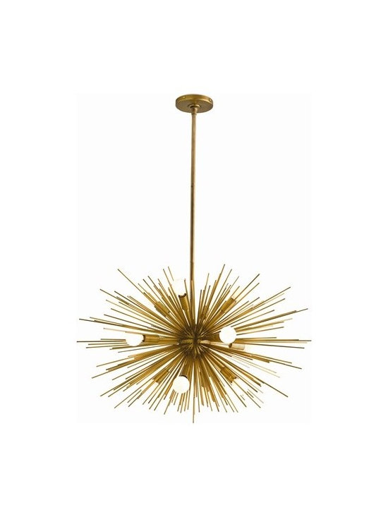 Arteriors Zanadoo 12 Light Antique Brass Chandelier - Zanadoo 12 Light Antique Brass Chandelier
