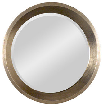 Two Tone Round Mirror contemporary-mirrors