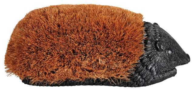 Giant Hedgehog Boot Brush traditional-outdoor-decor