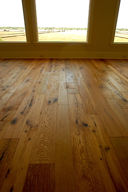 Reclaimed antique oak hand brushed texture european oil for Hardwood floor finishes