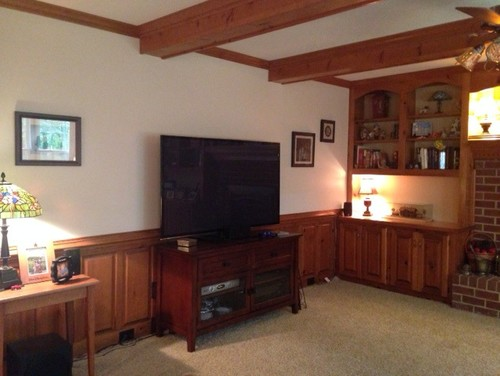 Should I Paint The Wood Paneling Above My Fireplace