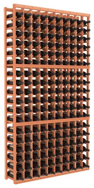 10 Column Standard Wine Cellar Kit in Redwood contemporary-wine-racks