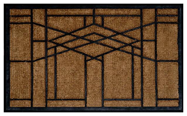 Frank lloyd wright robie window design doormat craftsman doormats by maclin studio - Frank lloyd wright rugs ...