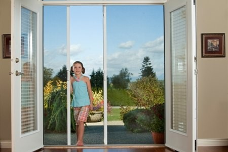 Mirage retractable screen double french doors for Retractable screen door for double french doors