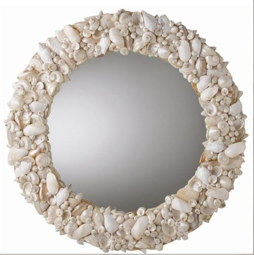 Round Natural Seashell Mirror Traditional Wall Mirrors By Inside Avenue