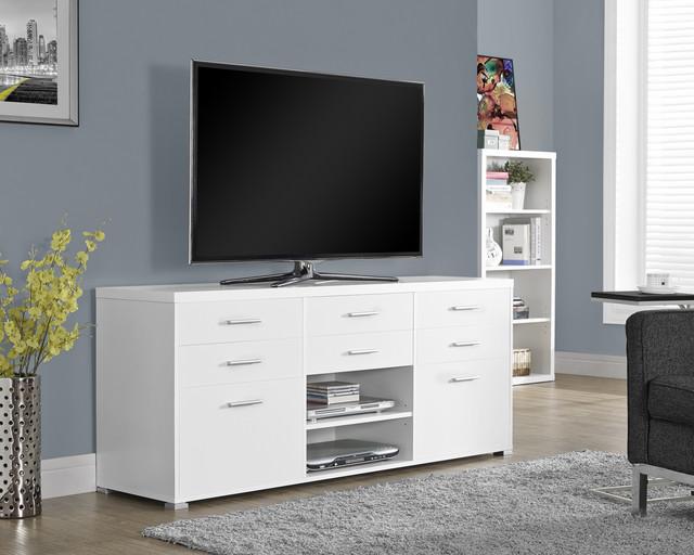 White Hollow-core 60-inch TV Console