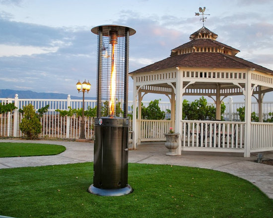 Lava Heat Opus Lite G7 Propane Flame Patio Heater - Weighing in at 52 pounds, the Lava Heat Opus Lite G7 Propane Flame Patio Heater is a classic and modern heating element that can be used in multiple areas of your backyard or outdoor patio area. The unit is also available in bronze and gun metal colors and natural gas models. -Mantels Direct