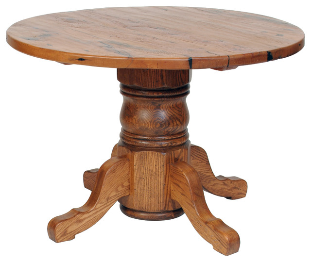 Antique Oak Pedestal Dining Table Traditional Dc Metro By Shenandoah Furniture Gallery
