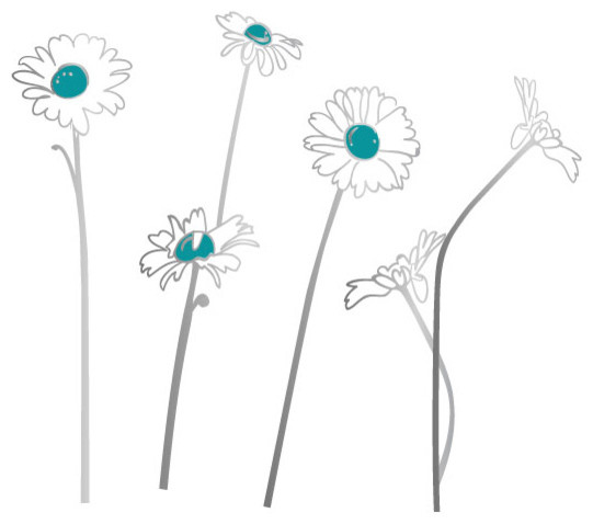 Surface Collective - Oopsa Daisies Wall Tattoo modern-decals