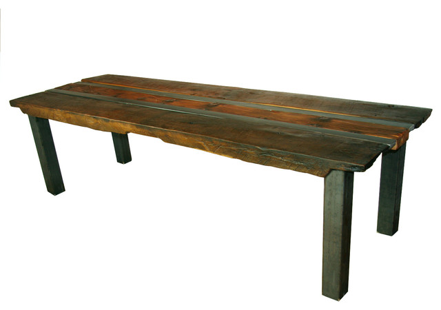 Reclaimed white oak and cypress dining table rustic dining tables