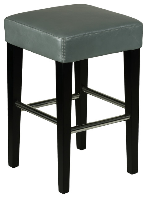 Cortesi Home Backless Counter Stool in Genuine Leather  : contemporary bar stools and counter stools from www.houzz.com size 476 x 640 jpeg 37kB