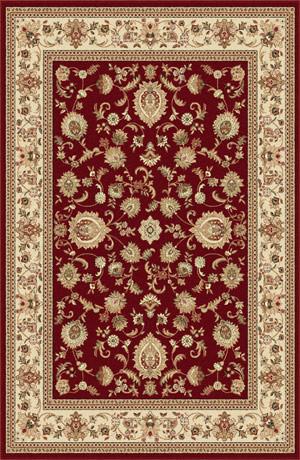 Tayse Sensation 4720 Red 5'3'' x 7'3'' Area Rugs modern-rugs