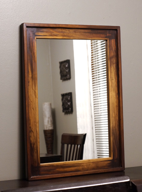 Wood Framed Mirrors - Rustic - milwaukee - by KennethDante Woodworks