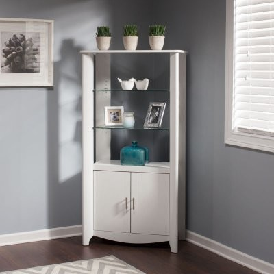Bush Aero Collection 2 Door Tall Library Storage Bookcase - Pure White - MY16192 - Modern ...