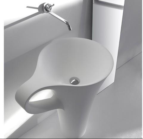 Bahtroom pedestal sink modern-bathroom-sinks