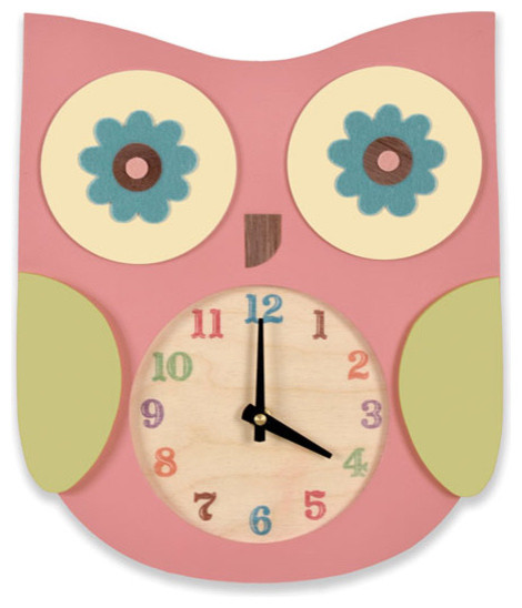 Children39s wall clocks kids clocks chicago by belle for Wall clock images for kids