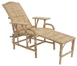 Rattan Lounger traditional-outdoor-chaise-lounges