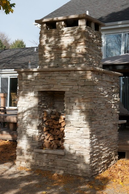 Exterior Stone for Backyard Projects traditional