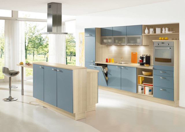 ALNO Kitchens Shades Of Blue Contemporary Kitchen Cabinetry New York