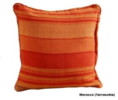Morocco Striped filled Cushion Terracotta modern-decorative-pillows