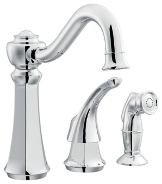 Moen Traditional Bathroom Faucet: Moen 7065 Vestige Single Handle Kitchen Faucet With