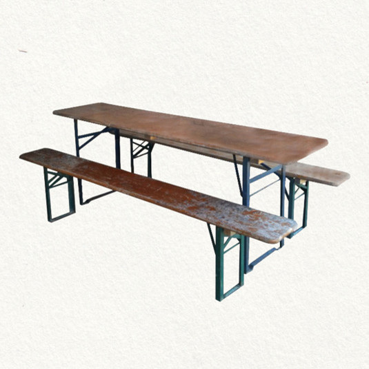 Beer Garden Table & Bench eclectic-outdoor-tables