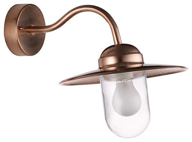 Nordlux Luxembourg Outdoor Wall Light, Copper - Industrial - Outdoor Wall Lights And Sconces ...