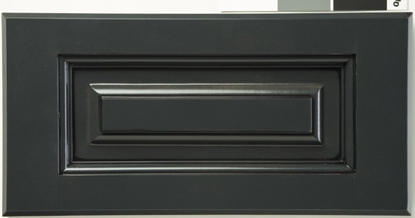 Gunmetal Black Glaze on Maple eclectic kitchen cabinets