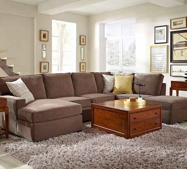 Broyhill Raphael 6636 Sectional - Modern - other metro - by Sofas and ...