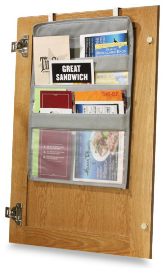 Over-the-Cabinet-Door Coupon Pockets modern-pantry-and-cabinet-organizers