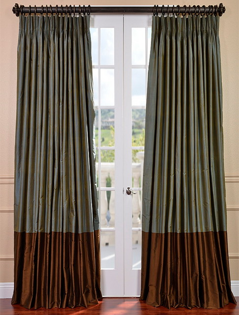 Create Your Own Banded Thai Silk Curtain - Traditional - Curtains - san francisco - by Half ...
