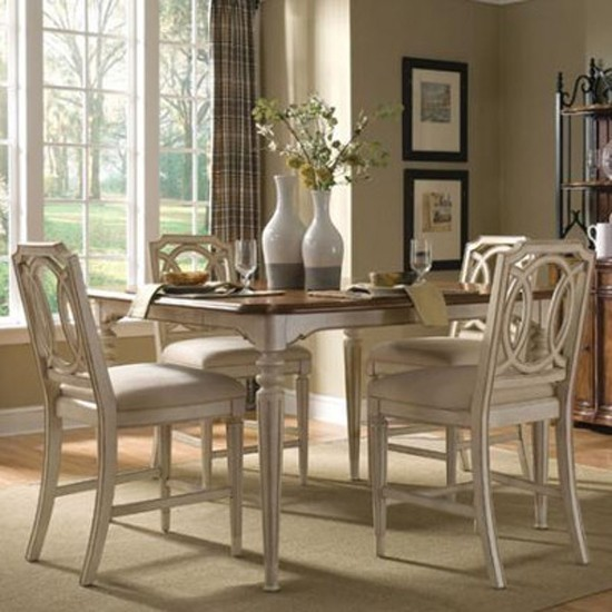 art furniture provenance 5 piece counter height dining