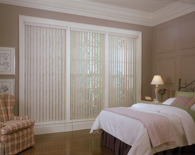 Vertical Blinds Traditional Bedroom Brown amp Pink