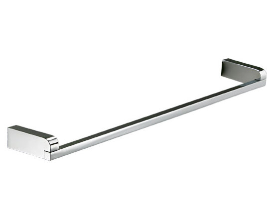 """Manillons - Musa Wall Towel Bar Holder 24"""" wide. Polished Chrome - Bring sleek style to your personal space. This polished chrome towel bar, imported from Spain, has the simple, clean appeal perfect for a modern bath."""