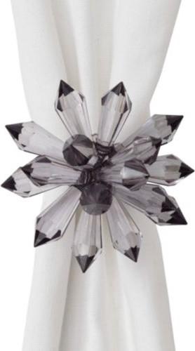 Floret Napkin Ring - Charcoal - Set of 4 modern-napkin-rings