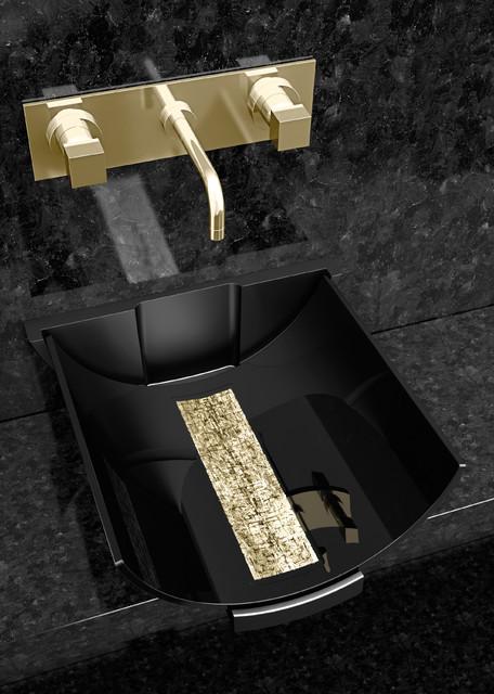 Calla Black Gold Modern Bathroom Other Metro By