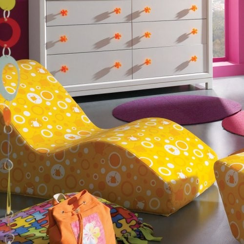 Lea Industries TeenNick Flipping Out Chaise Lounge contemporary-kids-chairs