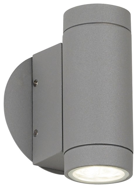 Silver Picture Wall Lights : Possini Euro Matte Silver Outdoor LED Up and Down Wall Light - Contemporary - Outdoor Lighting ...
