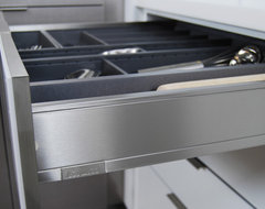 Stainless Steel Drawers from Dura Supreme contemporary kitchen cabinets